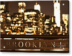 Brooklyn Bubbly Acrylic Print by Andrew Paranavitana