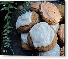 Brown Butter Pumpkin Cookies Acrylic Print by Jennifer Kelly
