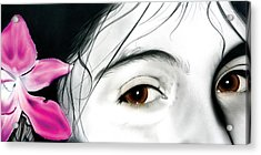Brown Eyed Girl Acrylic Print by Dan Menta