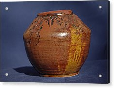Brown Vase Acrylic Print by Rick Ahlvers