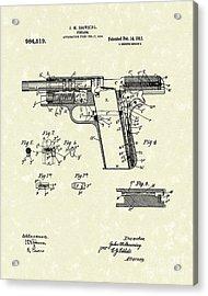 Browning Handgun 1911 Patent Art Acrylic Print