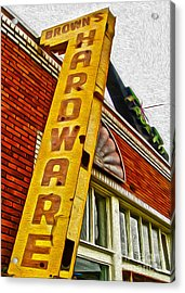 Browns Harware Acrylic Print by Gregory Dyer