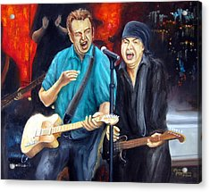 Bruce And Steven At The Apollo Acrylic Print