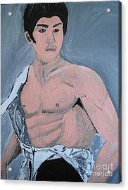 Bruce Lee Acrylic Print by Jeannie Atwater Jordan Allen