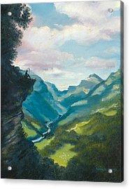 Bruecke To Heaven Acrylic Print by Timothy Tron