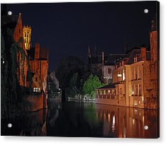 Acrylic Print featuring the photograph Bruges by David Gleeson