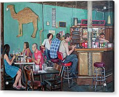 Brunch At Enid's Acrylic Print by Elinore Schnurr