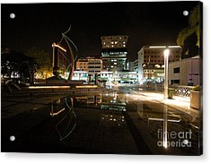 Acrylic Print featuring the pyrography Brunei At Night  by Gary Bridger