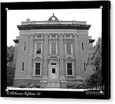 Brunswick Historical Court House Acrylic Print by Rebecca Stephens