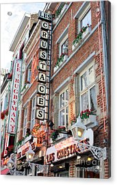 Brussels - Place Sainte Catherine Restaurants Acrylic Print by Carol Groenen