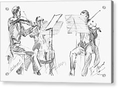 Brussels String Trio Acrylic Print by Granger