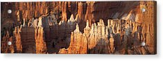 Acrylic Print featuring the photograph Bryce Canyon Desert Sunrise Panorama by Mike Irwin