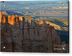 Bryce Canyon National Park Dusk Landscape Acrylic Print by Nature Scapes Fine Art