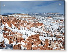 Bryce Winter Acrylic Print by Bob and Nancy Kendrick