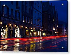 Bryggen Lights Acrylic Print by A A