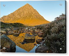 Buachaille Etive Mor At Sunrise Acrylic Print by Ben Spencer
