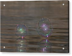 Bubble Iridescence Acrylic Print by Cathie Douglas