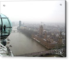 Acrylic Print featuring the photograph Bubble Over London by Beth Saffer