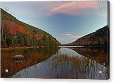 Bubble Pond At Autumn Glory Acrylic Print by Juergen Roth