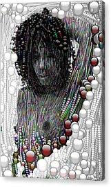 Bubble Woman Acrylic Print by Bogdan Floridana Oana