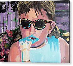 Bubblegum Ice Cream Acrylic Print by Krista Ouellette
