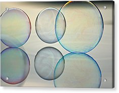 Bubbles On The Water Acrylic Print
