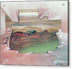 Bubblescape 1980 B Acrylic Print by Glenn Bautista
