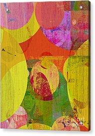 bubblicious VI Acrylic Print by Ricki Mountain