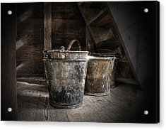 Buckets Acrylic Print by Christine Annas