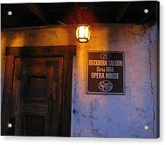 Buckhorn Saloon And Opera House Acrylic Print by FeVa  Fotos
