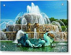 Buckingham Fountain - Chicago Acrylic Print by JH Photo Service