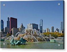 Buckingham Fountain Chicago Acrylic Print