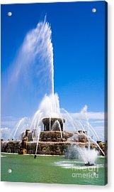 Buckingham Fountain In Chicago Acrylic Print by Paul Velgos