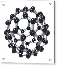 Buckminsterfullerene Or Buckyball C60 18 Acrylic Print