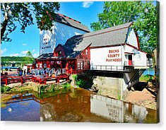 Acrylic Print featuring the photograph Bucks County Playhouse by William Jobes