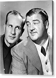 Bud Abbott And Lou Costello Abbott Acrylic Print by Everett