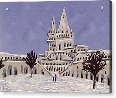 Budapest Fisher Bastion Acrylic Print by Marina Gershman