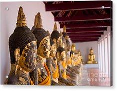 Buddha Culptures Acrylic Print by Asaha Ruangpanupan