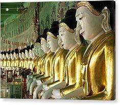 Buddha Row Acrylic Print by Nina Papiorek