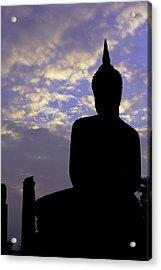 Buddha Silhouette Acrylic Print by Thomas  von Aesch