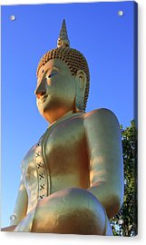 Buddha With Sunset Acrylic Print by Thomas  von Aesch