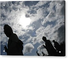 Acrylic Print featuring the photograph Buddhas Eclipsed By The Sun by Brian Sereda
