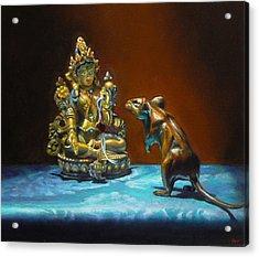 Buddhas Acrylic Print by Jeffrey Hayes