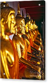 Acrylic Print featuring the photograph Buddhas by Luciano Mortula