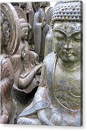 Acrylic Print featuring the photograph Buddhas2 by Brian Sereda