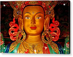 Budha Acrylic Print by Saira Ks