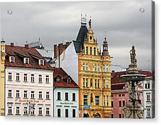 Budweis - Pearl Of Bohemia - Czech Republic Acrylic Print by Christine Till