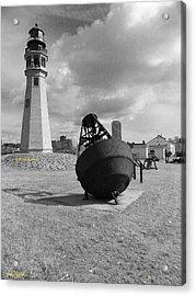 Buffalo Lighthouse And Bouy Acrylic Print by Joseph Rennie