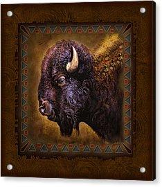 Buffalo Lodge Acrylic Print by JQ Licensing