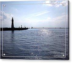 Buffalo Main Lighthouse And Buffalo Harbor Acrylic Print by Rose Santuci-Sofranko